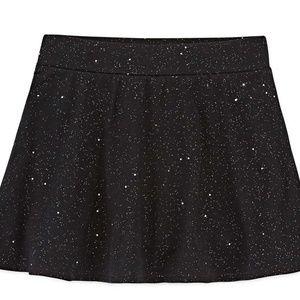 Total Girl Jersey Skater Skirt Skort Black Sparkle
